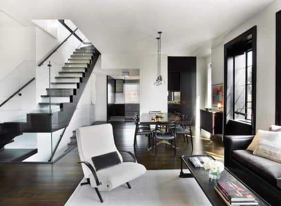 U201cI Wanted To Create An Airy New York Loft, Using Blackened Metal, Cast  Glass, Walnut, Mohairs And Leather,u201d Sara Story Says Of This Renovated  Triplex ...