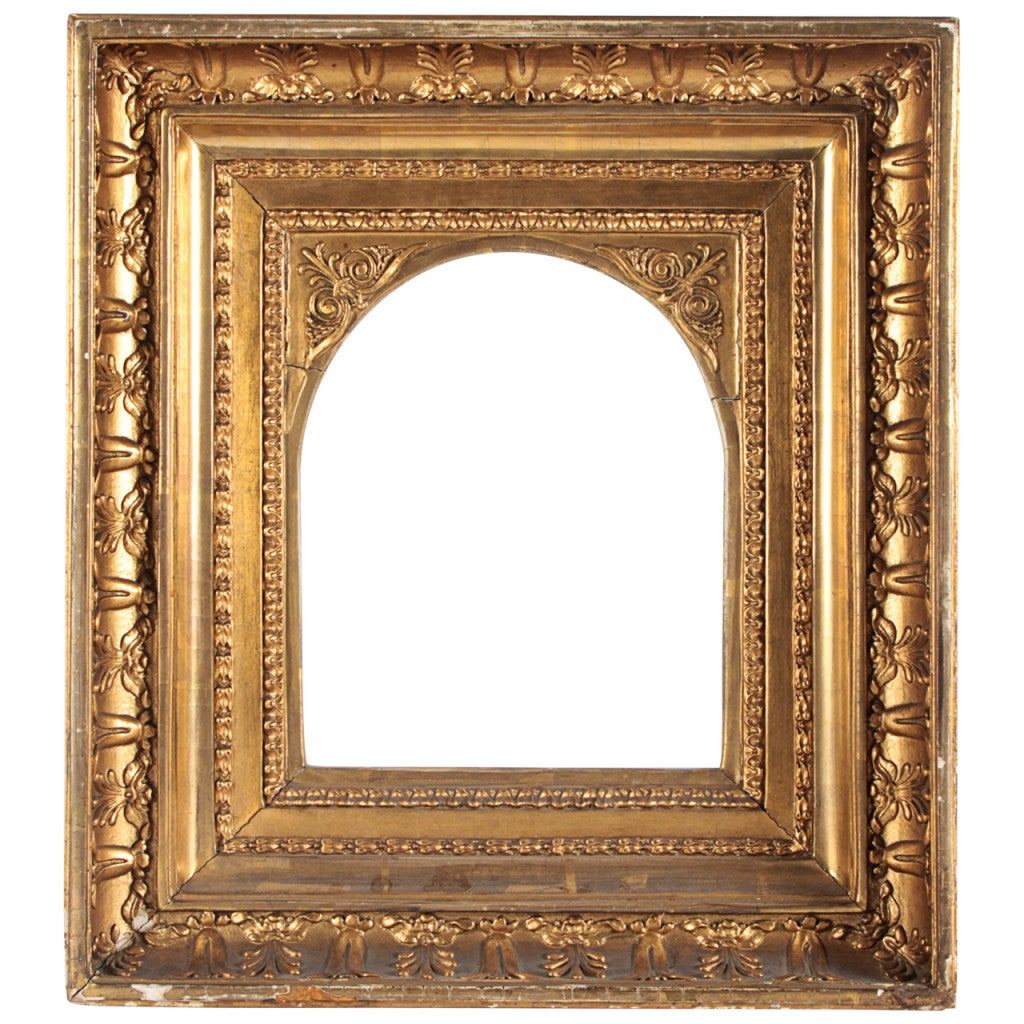Youve been framed the study a french cove frame with an arched opening and greek revival carvings circa 1830 jeuxipadfo Gallery