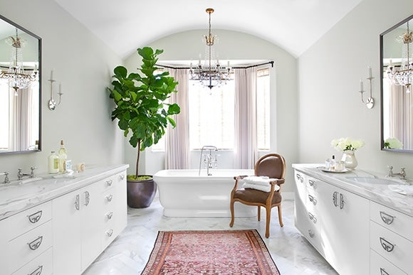Preppy Traditional Bathroom Beverly Hills Ca By Burnham  Part 71