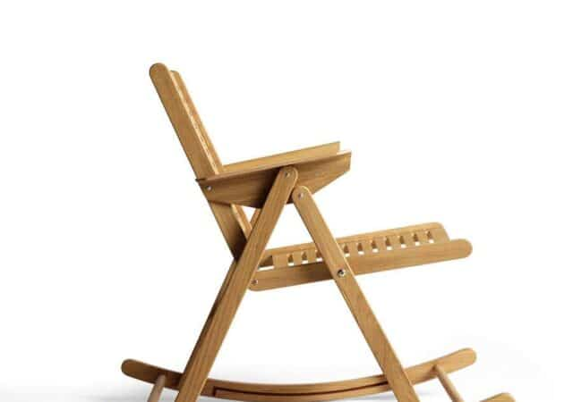 featured image for post: This Niko Kralj Mid-Century Rocking Chair Can Be Folded and Tucked Away