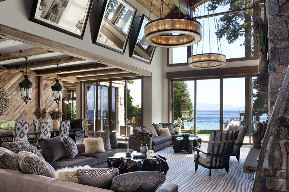 Lake Tahoe living room by Jeff Andrews