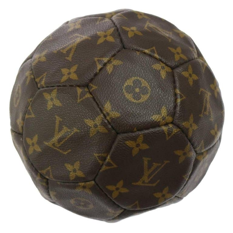 Louis Vuitton monogrammed soccer ball