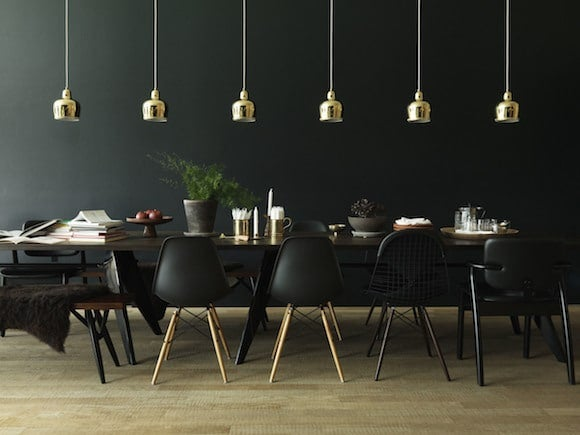 Brass Pendants By Alvar Aalto For Artek Pop In This Dark Dining Room That Studioilse Designed Herzog De Meurons VitraHaus Germany