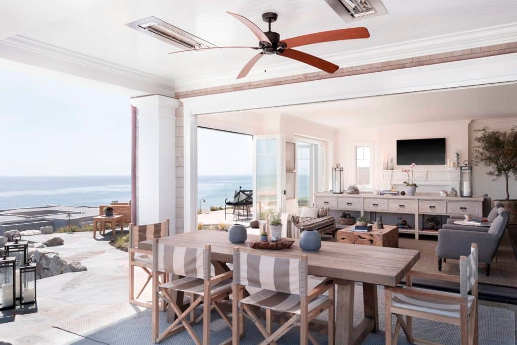 According To Brown Design Group, This Dana Point House Is U201cthe Epitome Of  California Styleu2014 An Indoor Outdoor Dining Area With Fabrics, Rugs And  Woods In A ...