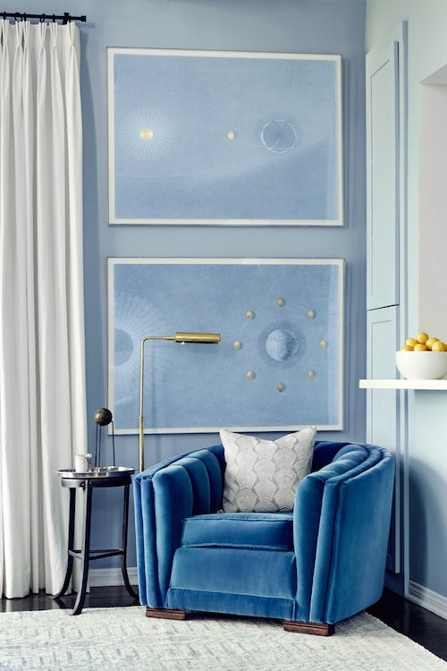 28 Enchanting Blue And White Rooms The Study