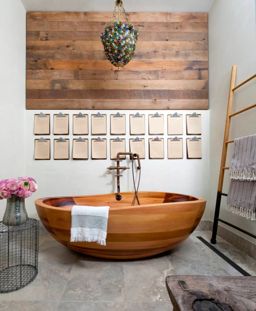James Huniford Designed This Manhattan Penthouse To Feel Like A Country  Retreat In The City, And The Bathroom Includes A Carved Cedar Tub By  E Legno.