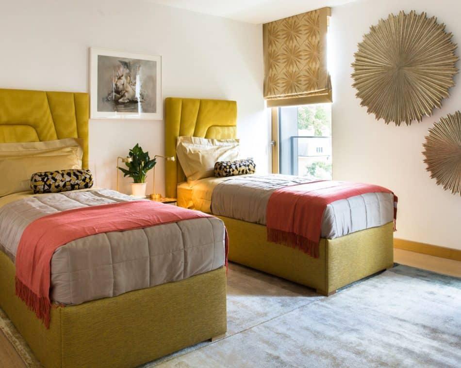Kensington Penthouse Guest Bedroom by Carden Cunietti