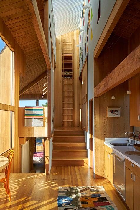 The Sea Ranch Sonoma California SFMOMA exhibition Rush House interior kitchen
