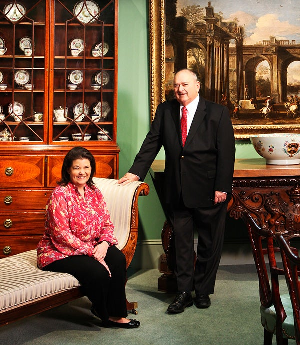 Together Bernard Karr and his daughter, Rachel — along with his wife and her mother, Barbara — run Hyde Park Antiques, a New York gallery specializing in English design from the Georgian and Regency periods.