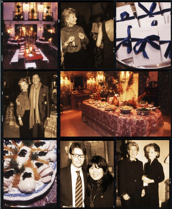"In 2006 Moss hosted a dinner party at her Manhattan home for the Metropolitan Museum's Costume Institute, creating the fête ""in the style of Pauline de Rothschild."" Photographs by Hannah Thomson"