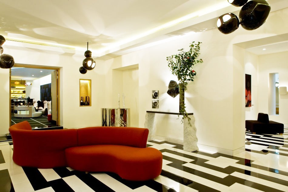 lobby of the Hotel Marignan
