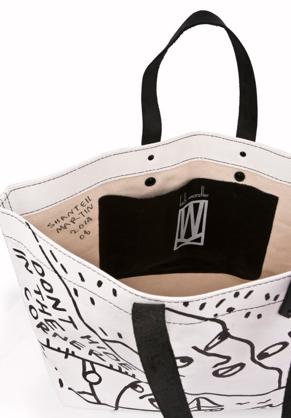 Kelly Wearstler limited-edition canvas-and-leather Tote Bag