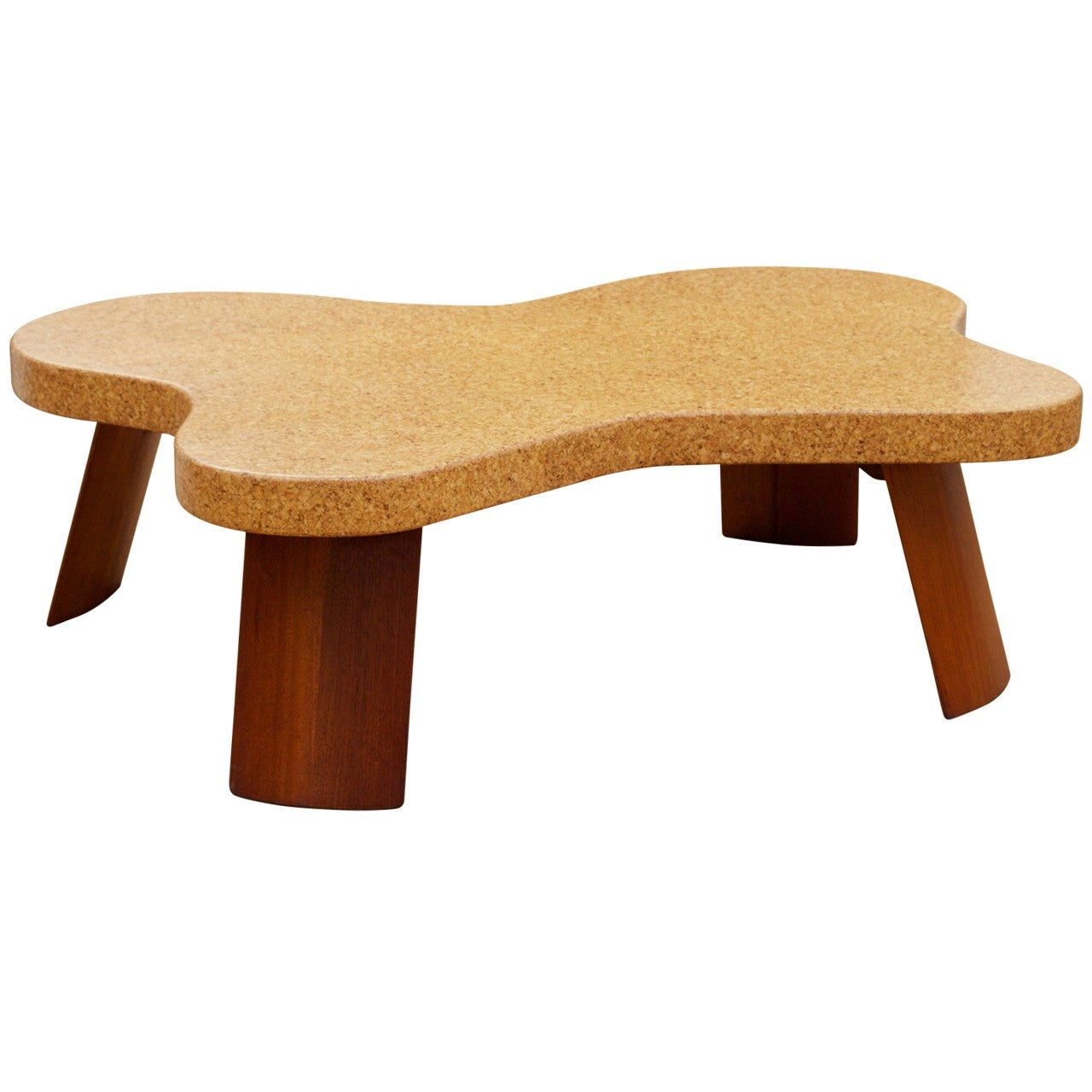 Paul Frankl cork-top coffee table, offered by Almond Hartzog