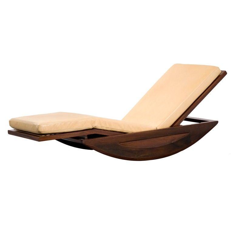 Joaquim Tenreiro chaise longue rocking chair, offered by R20th Century