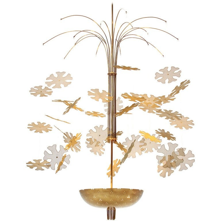 Paavo Tynel Snowflake chandelier, offered by Wyeth