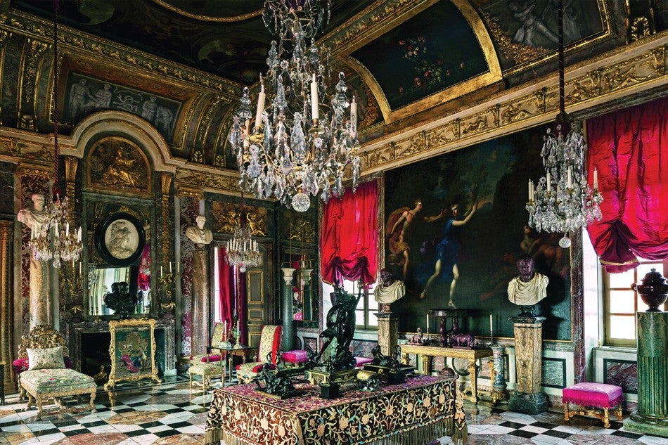 ... Undertaking A Multiyear Restoration Of The Circa 1650 Ceiling Painting  And Filling The Room With Louis XIV Furniture And Antiques.