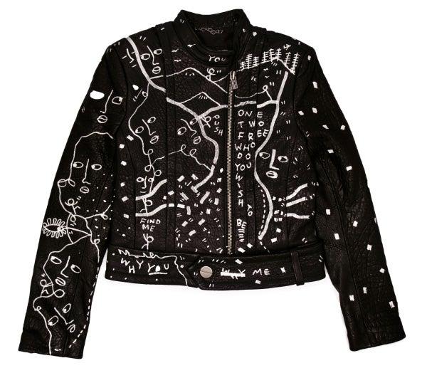 Kelly Wearstler lambskin Leather Jacket