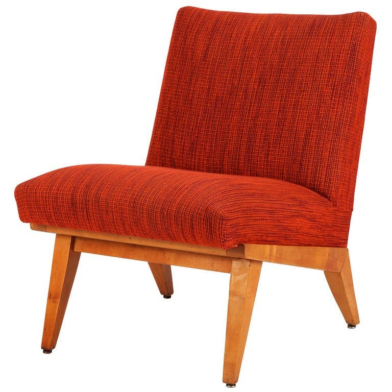 Slipper Lounge Chair by Jens Risom for Knoll, 1940s