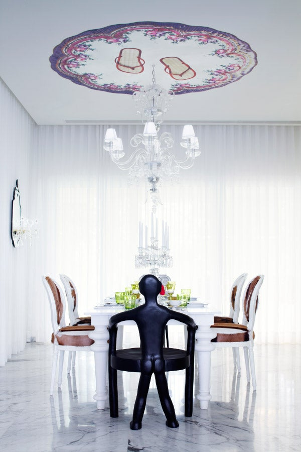 A dining room at another of Starck's far-flung endeavors: yoopune, in India.