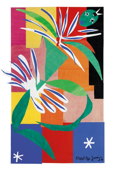 Matisse created Creole Dancer, 1950, in a single day, basing the image off sketches he made of a dancer he invited to perform in his studio.