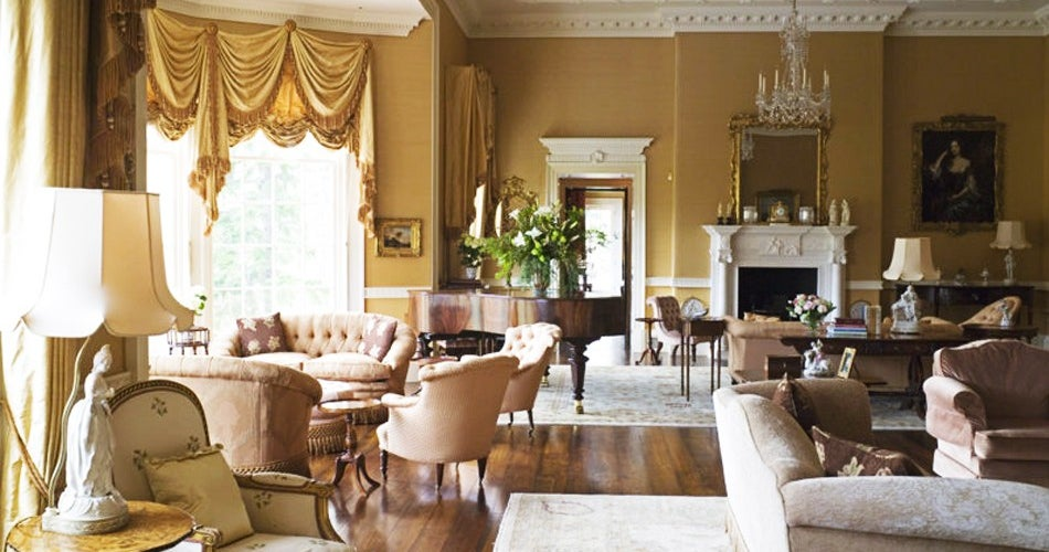 old world living room.  Scotland Though it was freshly decorated from its bowed windows and wood plank floors up this grand but cozily conversational living room in a newly Modern Elegance vs Old World Glamour Decorating Style Wars