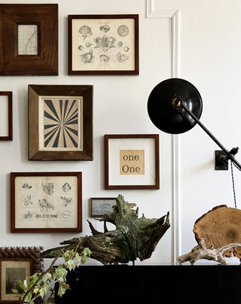 A collection of prints and found objects enlivens Brechbueler and Highsmith's Cobble Hill home.