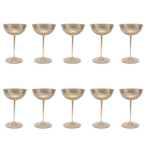Ten Champagne Goblets by Josef Hoffmann, circa 1920