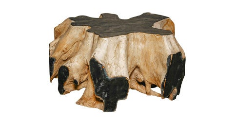 African root coffee table, 1940s, offered by Galerie Captier
