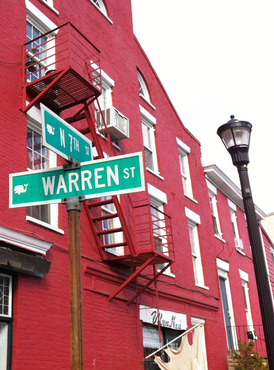Warren Street in Hudson, New York, is home to a multitude of antiques shops. Photo by Kathleen Hughes