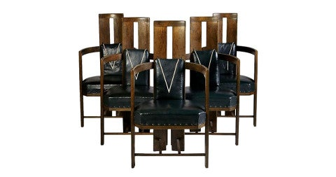 2. Elial Saarinen dining chairs, 1907