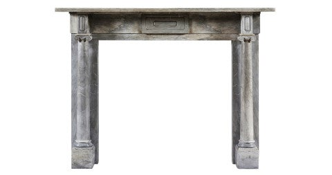 English Regency-period column fireplace mantle, 19th century, offered by Jamb