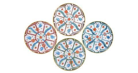 Set of made-to-order Cabana-designed dinner plates, contemporary