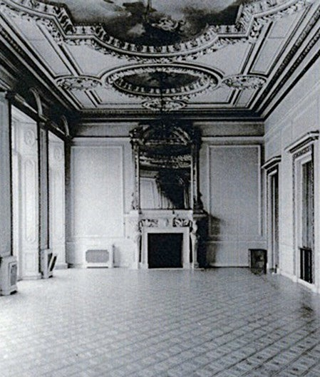 A photograph of the interior of Lionel Rothschild's 1858 London mansion on Hyde Park Corner shows the Hobbs mantelpiece in situ. It was removed from the house prior to its demolition after World War II.