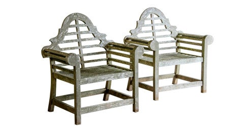 Pair of Lutyens-style garden seats, circa 1980, offered by Carl Moore Antiques