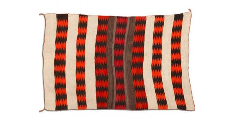 Transitional Navajo blanket/rug, 1910-20, offered by Tishu Gallery