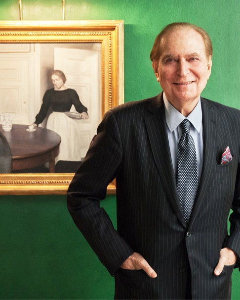 Top: Ambassador Loeb sits in the library of his Manhattan townhouse, designed by famous decorator Sister Parish (whose best-known political design coup was the Kennedy White House), where his prized painting usually hangs.