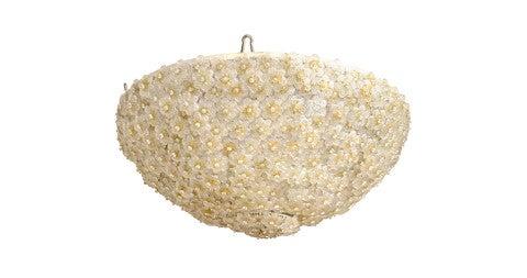 Murano glass flower chandelier, 1960s, offered by John Salibello