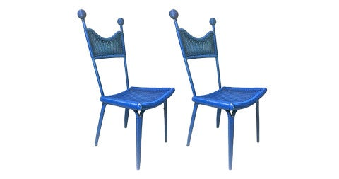 Pair of Jean Royère Chairs, 1950, offered by Galerie Andre Hayat