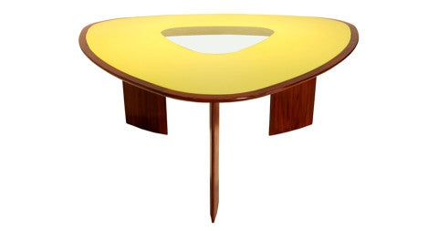 Joaquim Tenreiro Mesa Triangular dining table, 1960s, offered by Thomas Hayes Gallery