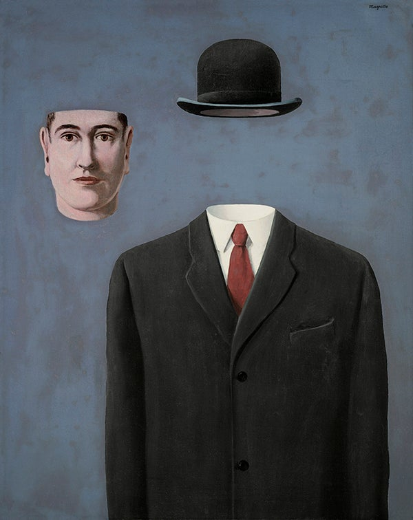 At his galleries in Europe and New York, Iolas championed the work of many then-unheralded artists, including Magritte, whose The Pilgrim, 1966, is included in the Kasmin show. Image © 2014 C. Herscovici/ Artists Rights Society (ARS), New York