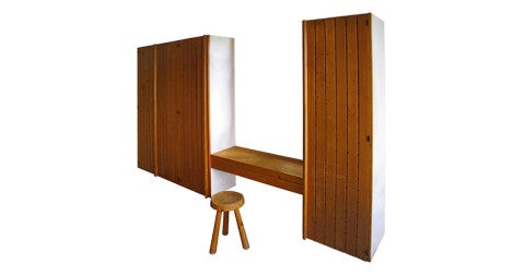 Charlotte Perriand wardrobe and desk, offered by Formelibre