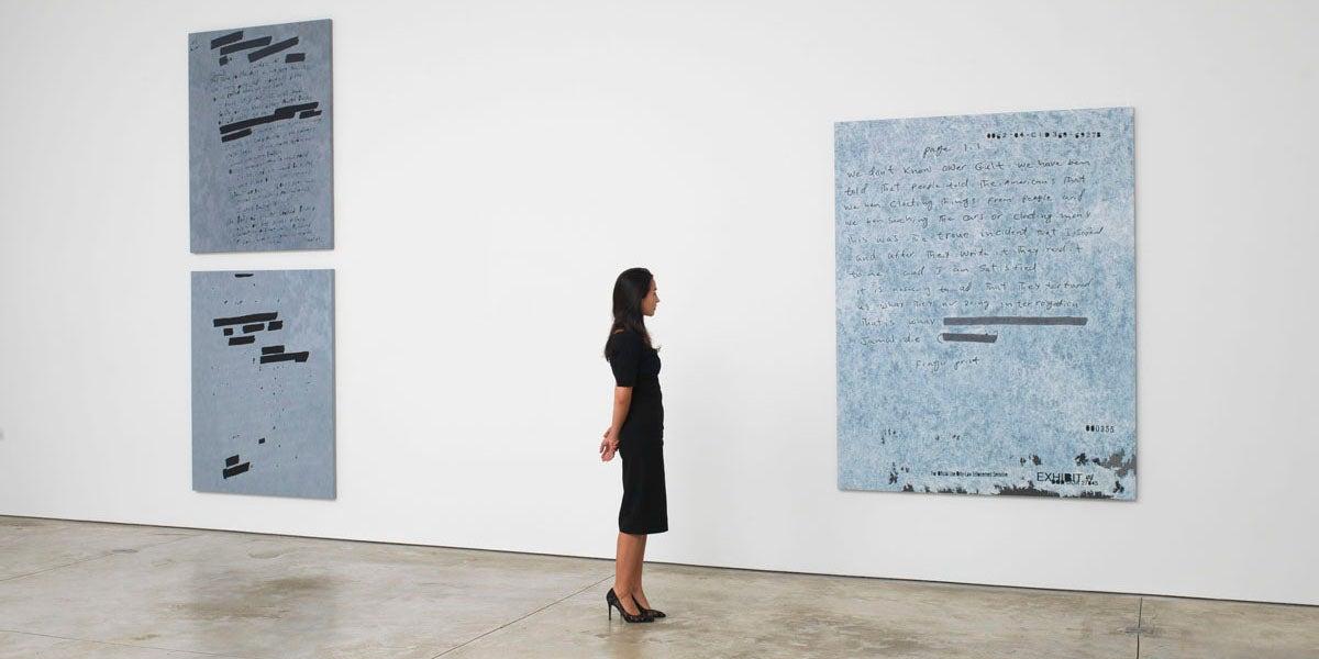 """Jenny Holzer's """"Dust Paintings"""""""
