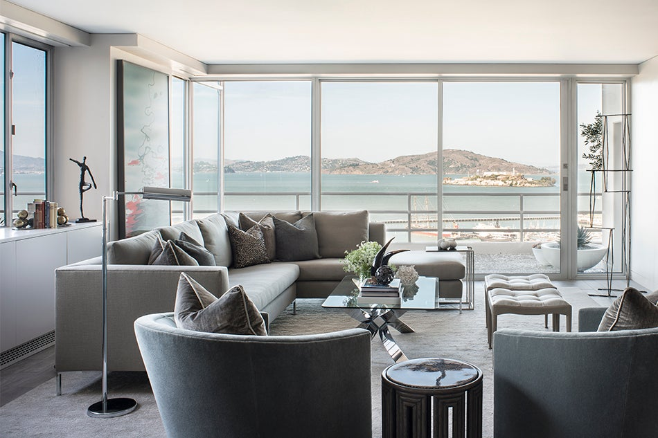 To mimic the soothing sight of fog Wilkinson chose a palette of cool tones for this Bay View apartment. In the homeu0027s living area classic A. Rudin swivel ... : a rudin chair - Cheerinfomania.Com