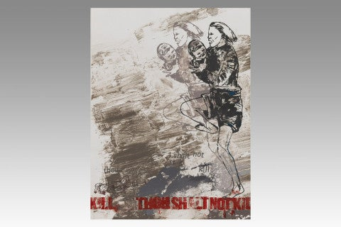<I>Though Shalt Not Kill (Plate IV), Ten Commandments,</i> 1987, by Nancy Spero