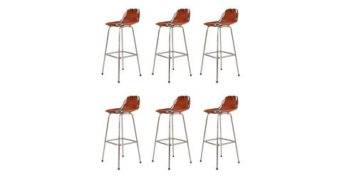 Charlotte Perriand bar stools for Les Arcs, ca. 1960, offered by Galerie Gaudium