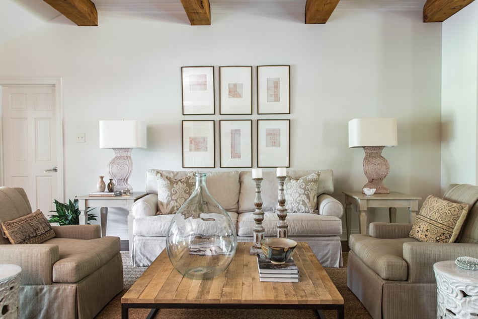 In The Family Room Of A Home Baton Rouge Louisiana Symmetrical Arrangement