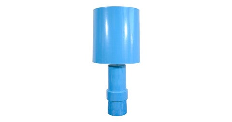Blue-glazed ceramic table lamp, 1970s, offered by Eric Appel LLC