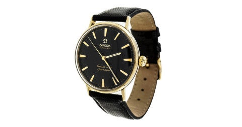 Omega Seamaster retailed by Tiffany & Co., 1960s, offered by Peter Suchy Jewelers