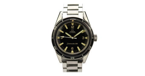 Stainless steel Omega Seamaster 300, 1960s, offered by Matthew Bain Inc.