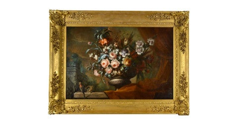 Still life of flowers by Jacob Van Huysum, 18th century, offered by the Cider House Galleries